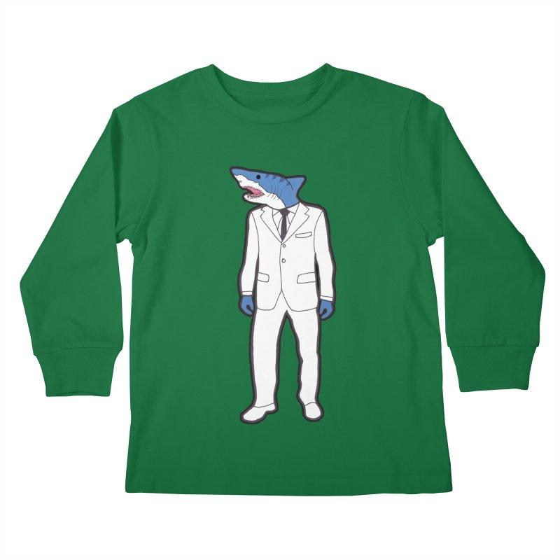 Shark Kids Longsleeve T-Shirt by MarcPaperScissor's Artist Shop
