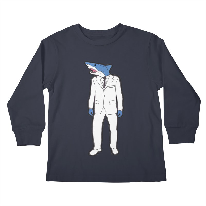 Shark Kids Longsleeve T-Shirt by MarcPaperScissor's Artist Shop