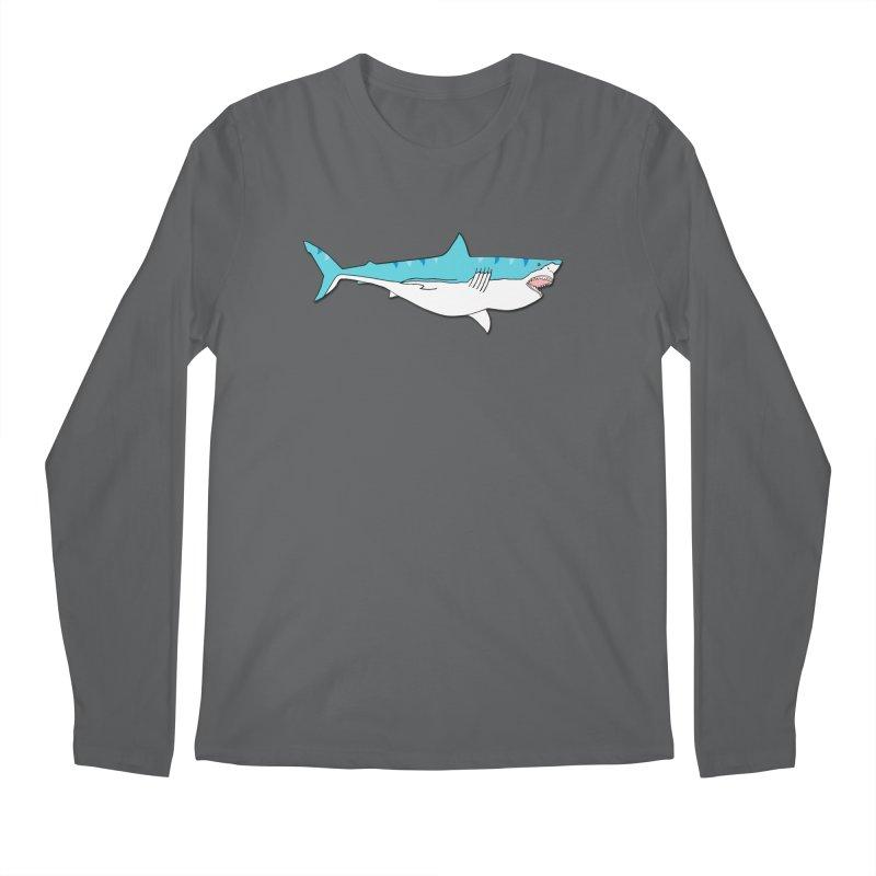 The Great Shark Men's Longsleeve T-Shirt by MarcPaperScissor's Artist Shop