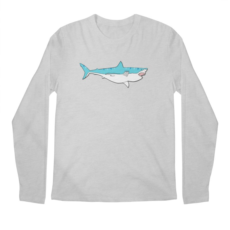 The Great Shark Men's Longsleeve T-Shirt by MarcPaperScissor's Artist Shop