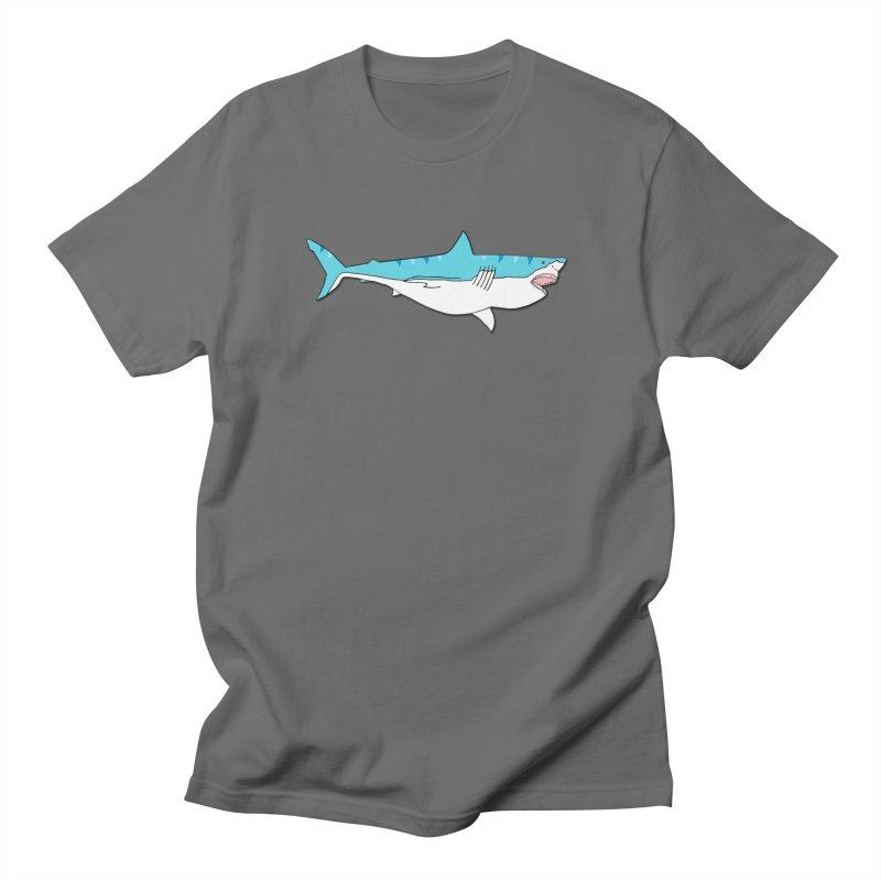 The Great Shark Men's T-Shirt by MarcPaperScissor's Artist Shop