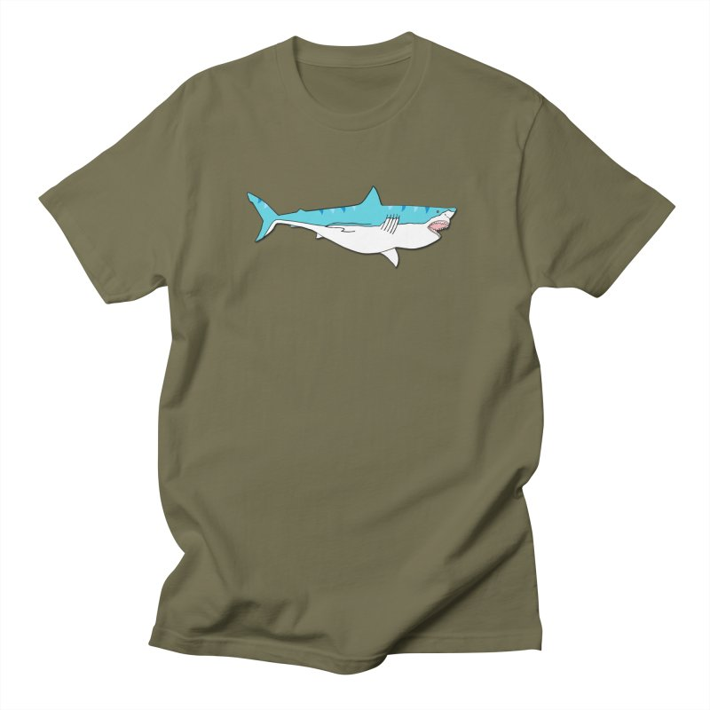The Great Shark Men's Regular T-Shirt by MarcPaperScissor's Artist Shop
