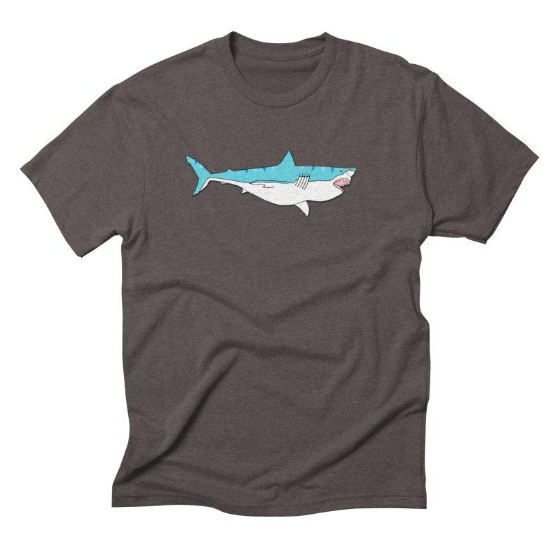 The Great Shark Men's Triblend T-Shirt by MarcPaperScissor's Artist Shop
