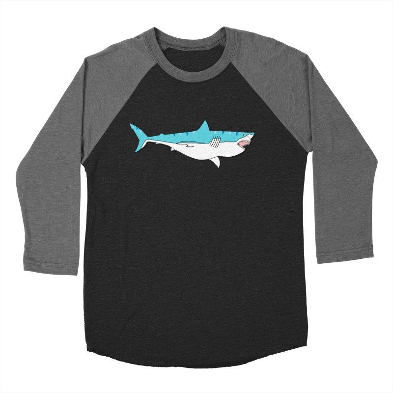 The Great Shark Women's Baseball Triblend T-Shirt by MarcPaperScissor's Artist Shop
