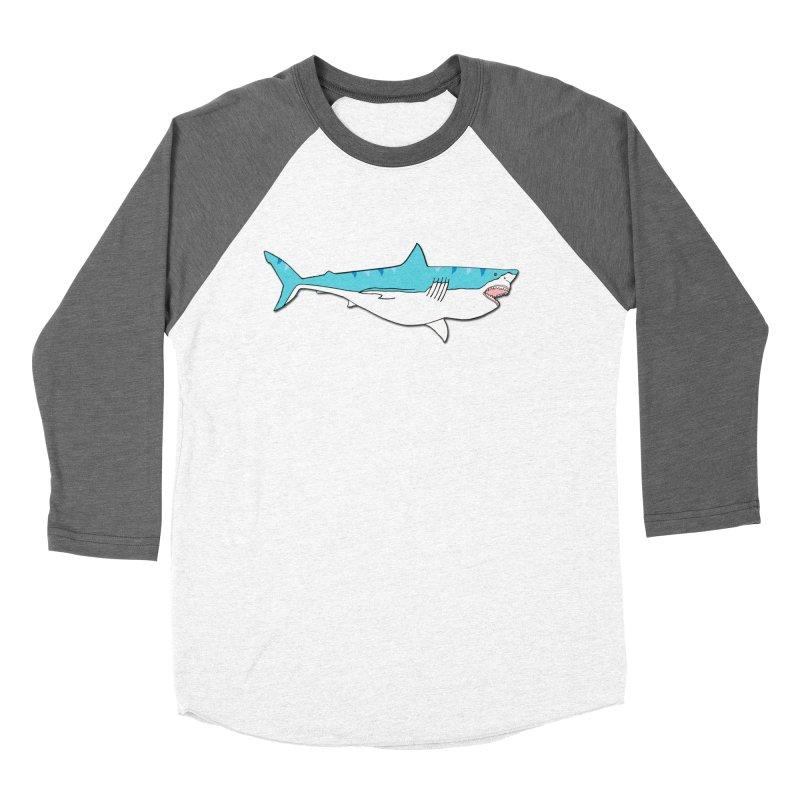 The Great Shark Men's Baseball Triblend T-Shirt by MarcPaperScissor's Artist Shop