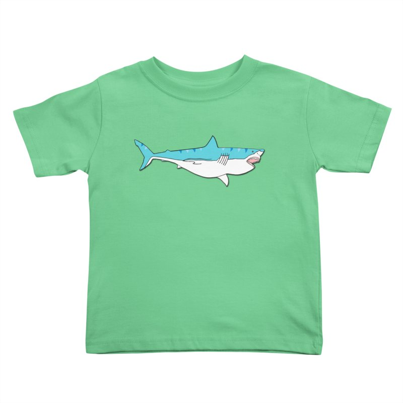 The Great Shark Kids Toddler T-Shirt by MarcPaperScissor's Artist Shop