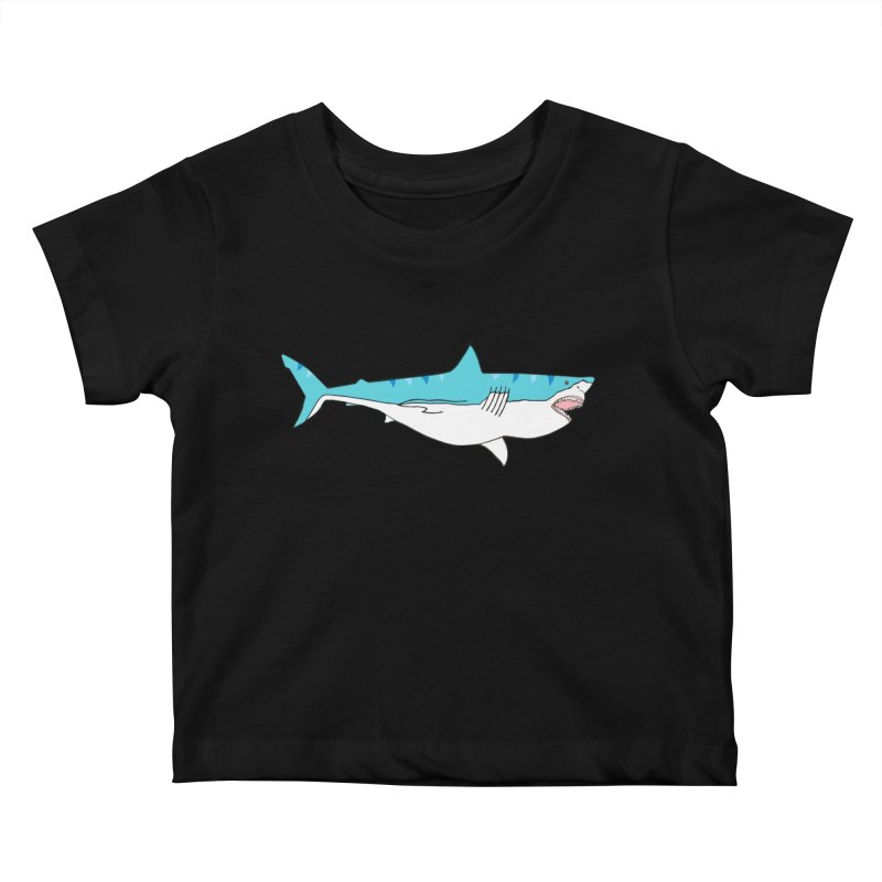 The Great Shark Kids Baby T-Shirt by MarcPaperScissor's Artist Shop