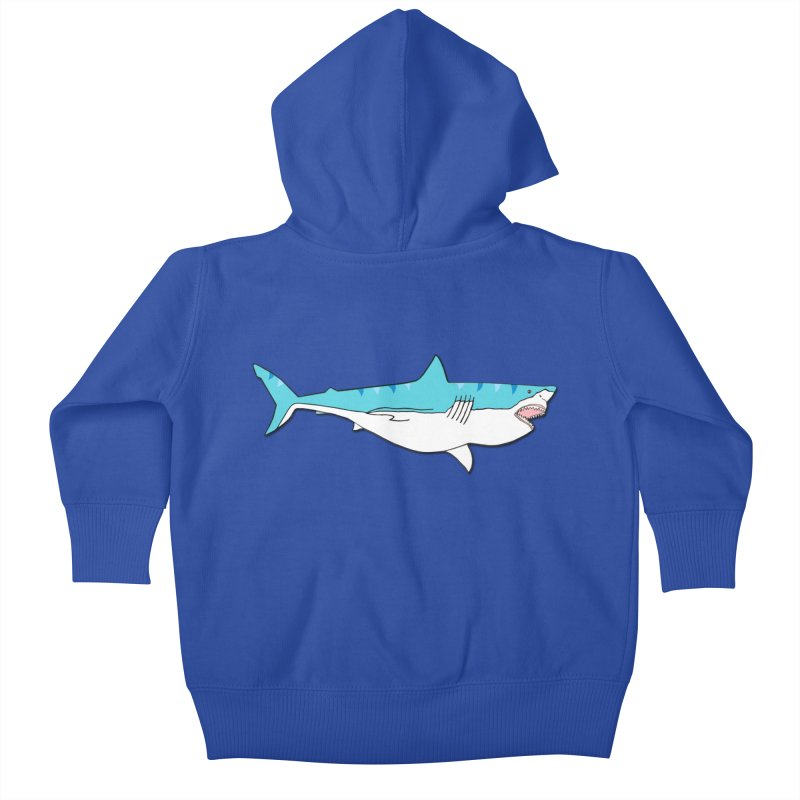 The Great Shark Kids Baby Zip-Up Hoody by MarcPaperScissor's Artist Shop