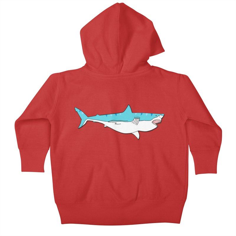 The Great Shark Kids Baby Zip-Up Hoody by MarcPaperScissor's Artist Shop