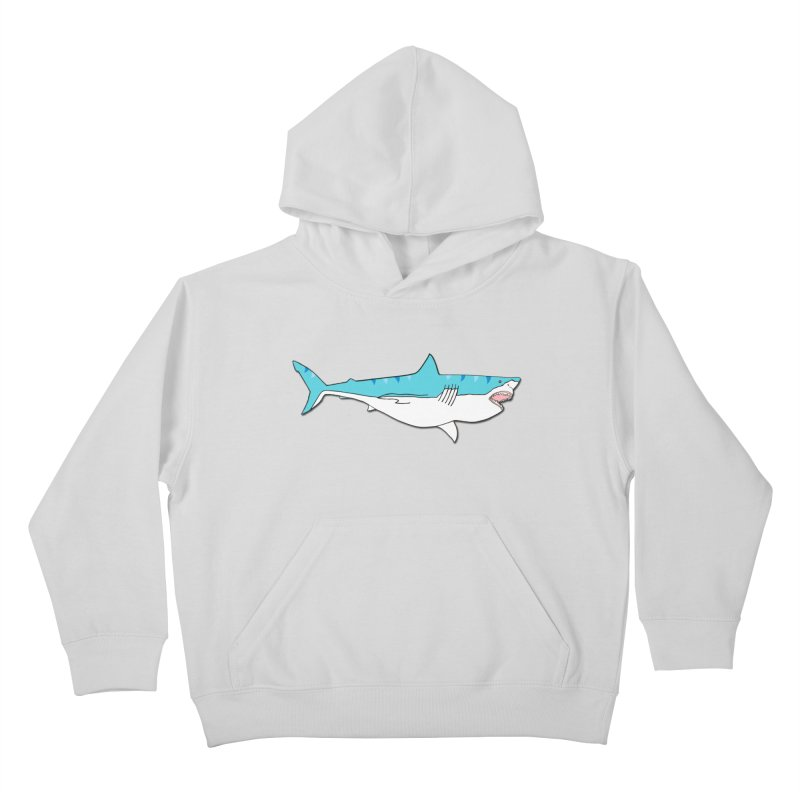 The Great Shark Kids Pullover Hoody by MarcPaperScissor's Artist Shop