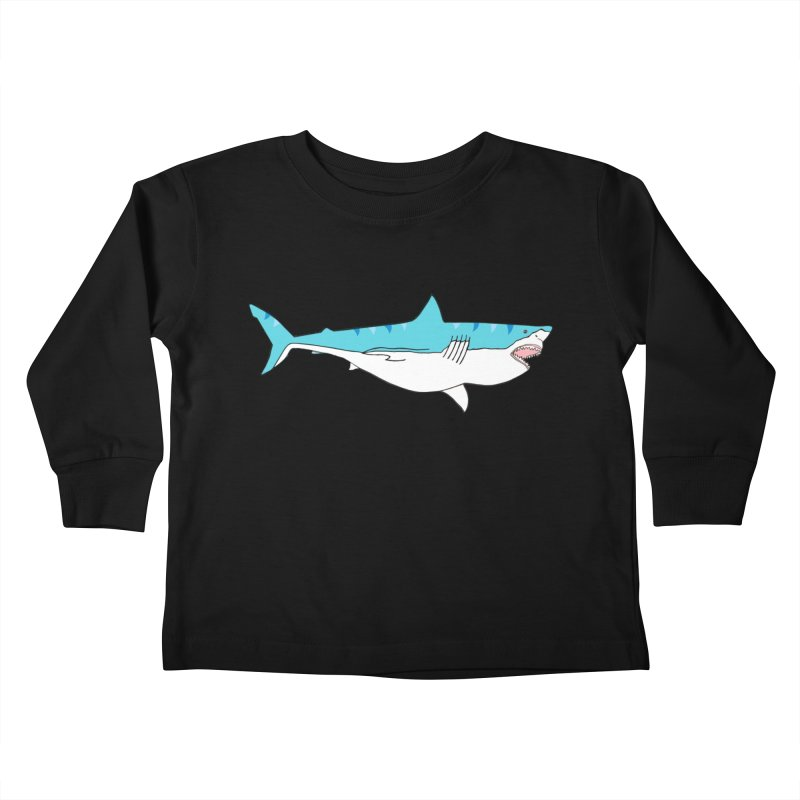 The Great Shark Kids Toddler Longsleeve T-Shirt by MarcPaperScissor's Artist Shop