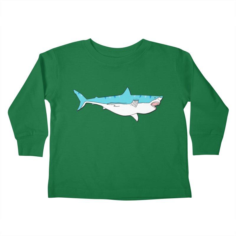 The Great Shark Kids Toddler Longsleeve T-Shirt by MarcPaperScissor's Artist Shop