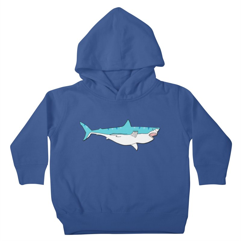 The Great Shark Kids Toddler Pullover Hoody by MarcPaperScissor's Artist Shop