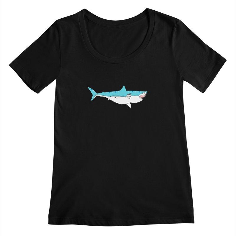 The Great Shark Women's Scoopneck by MarcPaperScissor's Artist Shop