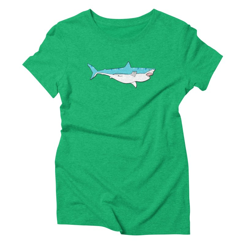 The Great Shark Women's Triblend T-Shirt by MarcPaperScissor's Artist Shop