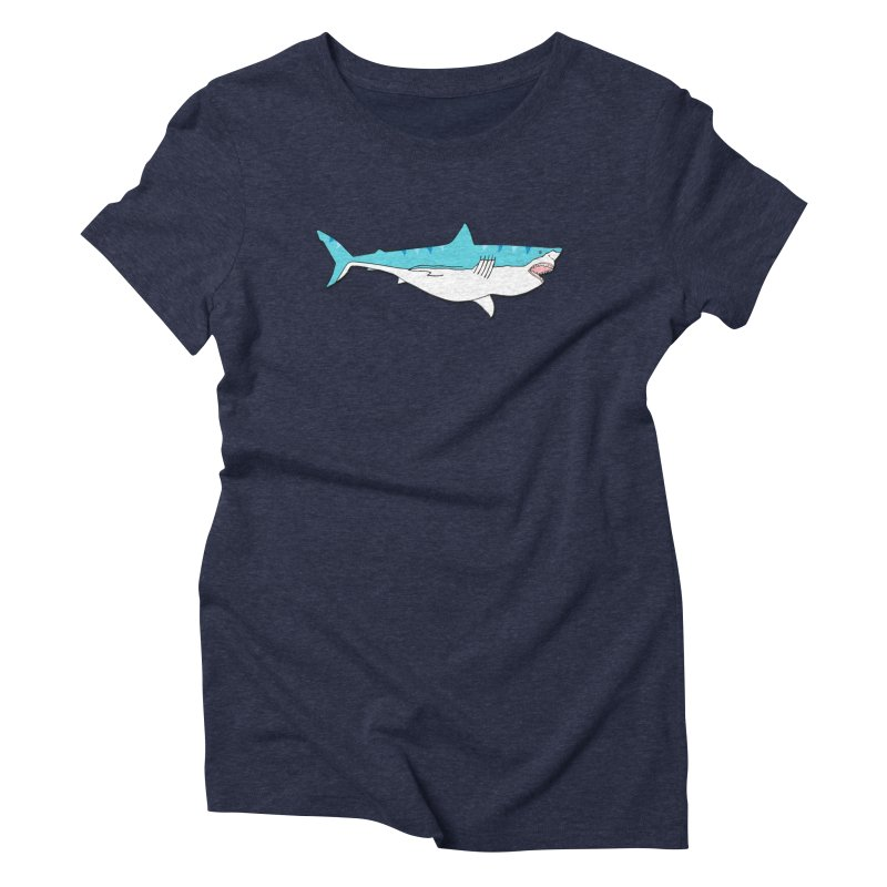 The Great Shark Women's Triblend T-Shirt by MarcPaperScissor's Artist Shop