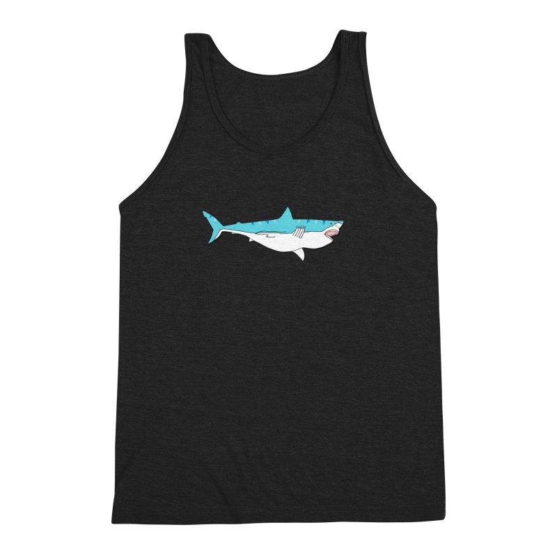 The Great Shark Men's Triblend Tank by MarcPaperScissor's Artist Shop