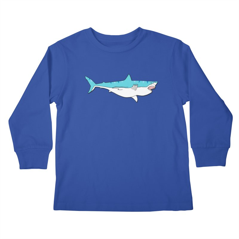 The Great Shark Kids Longsleeve T-Shirt by MarcPaperScissor's Artist Shop
