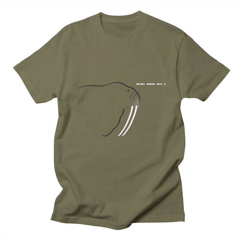 Morse Code Men's T-shirt by Mişto Design Shop