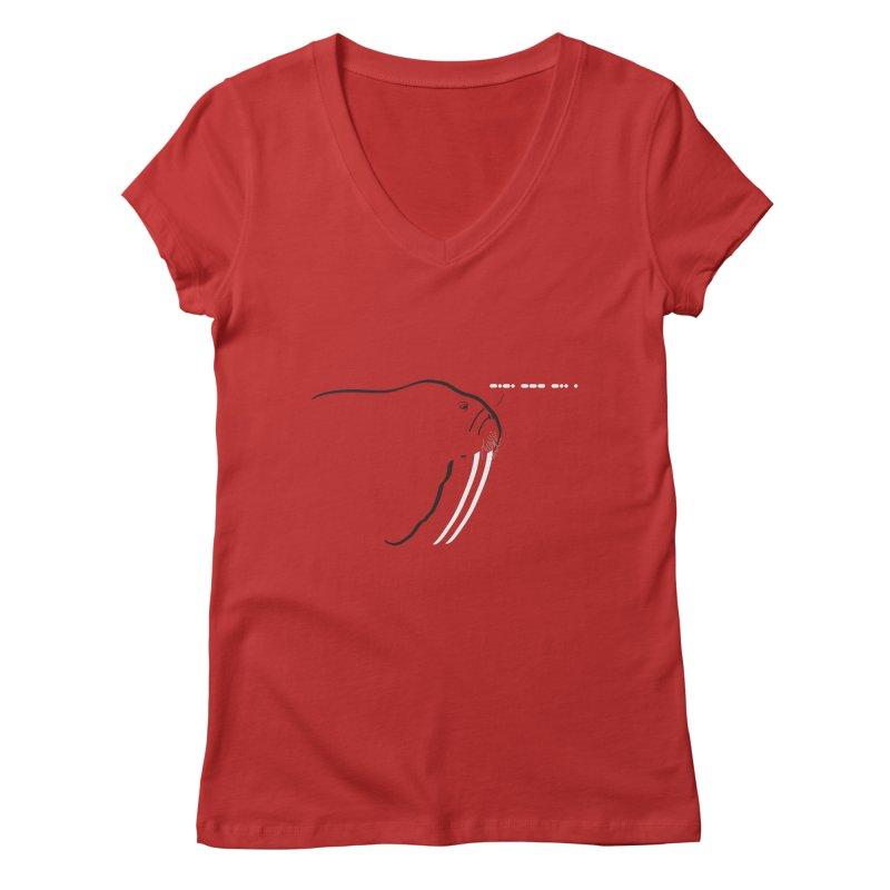 Morse Code Women's V-Neck by Mişto Design Shop