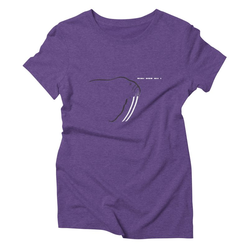 Morse Code Women's Triblend T-shirt by Mişto Design Shop