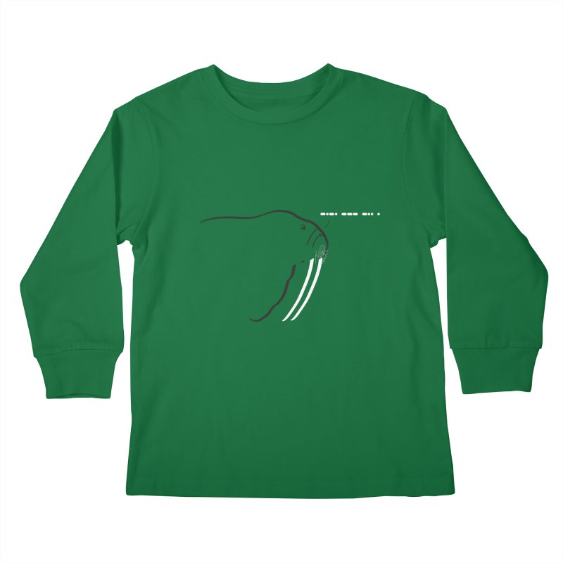 Morse Code Kids Longsleeve T-Shirt by Mişto Design Shop
