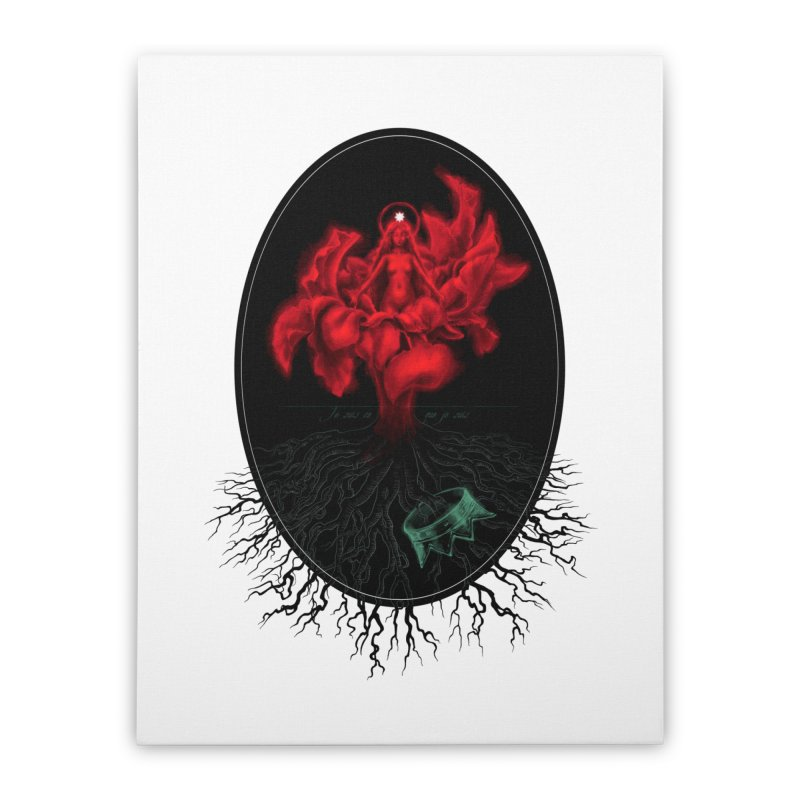 Red Goddess Home Stretched Canvas by Mar del Valle's Artist Shop