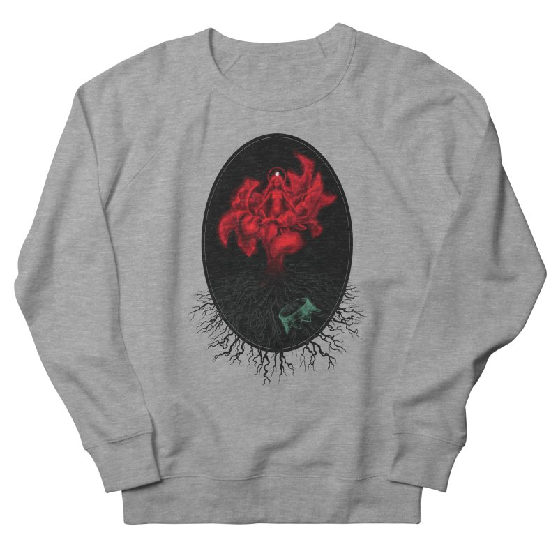 Red Goddess Men's Sweatshirt by Mar del Valle's Artist Shop