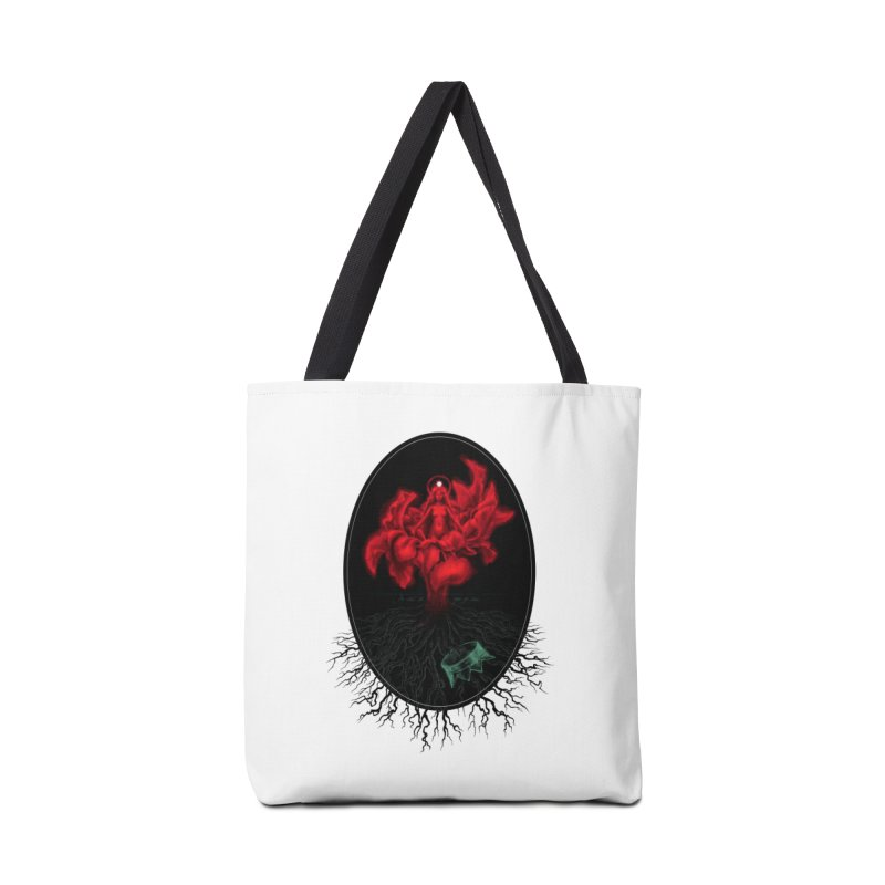 Red Goddess Accessories Bag by Mar del Valle's Artist Shop