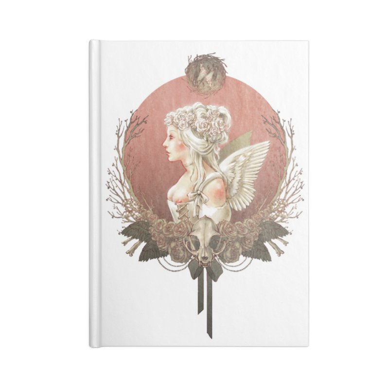 Bianca des Anges Accessories Lined Journal Notebook by Mar del Valle's Artist Shop
