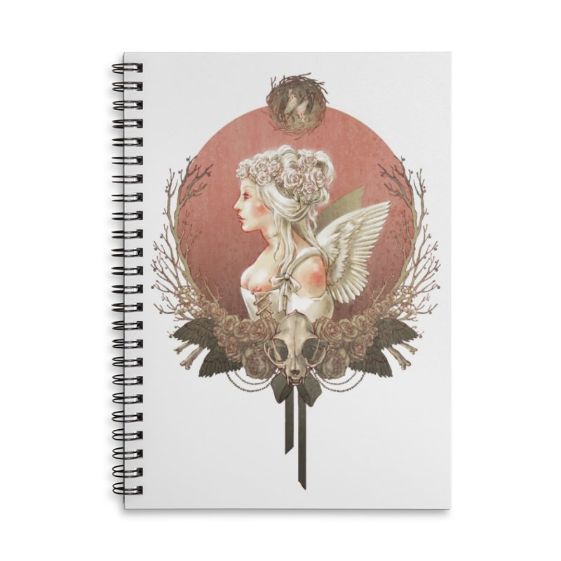 Bianca des Anges Accessories Lined Spiral Notebook by Mar del Valle's Artist Shop