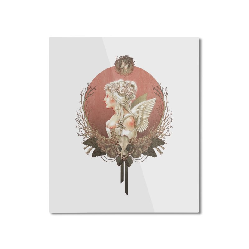 Bianca des Anges Home Mounted Aluminum Print by Mar del Valle's Artist Shop