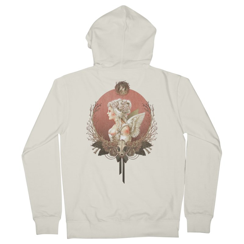 Bianca des Anges Women's French Terry Zip-Up Hoody by Mar del Valle's Artist Shop