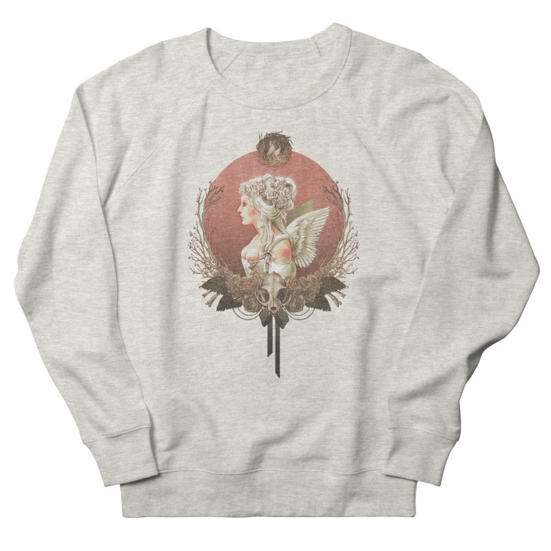 Bianca des Anges Men's French Terry Sweatshirt by Mar del Valle's Artist Shop