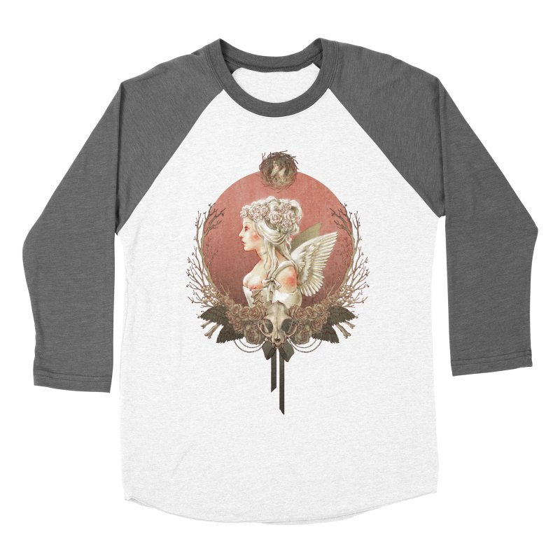 Bianca des Anges Women's Baseball Triblend T-Shirt by Mar del Valle's Artist Shop