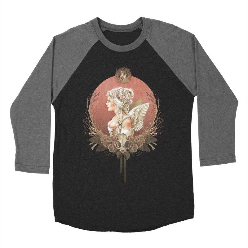 Bianca des Anges Women's Baseball Triblend Longsleeve T-Shirt by Mar del Valle's Artist Shop