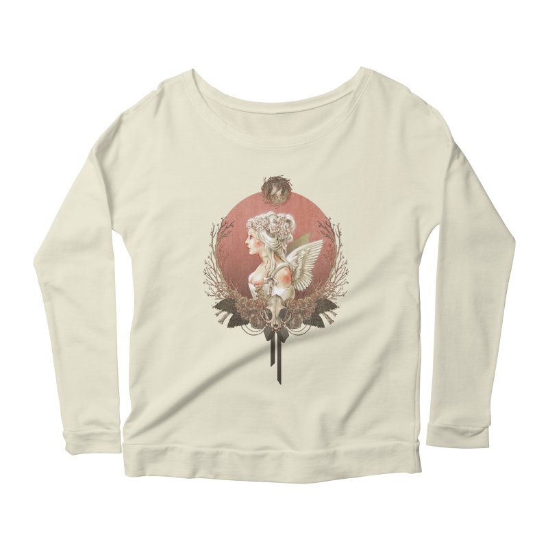 Bianca des Anges Women's Longsleeve Scoopneck  by Mar del Valle's Artist Shop