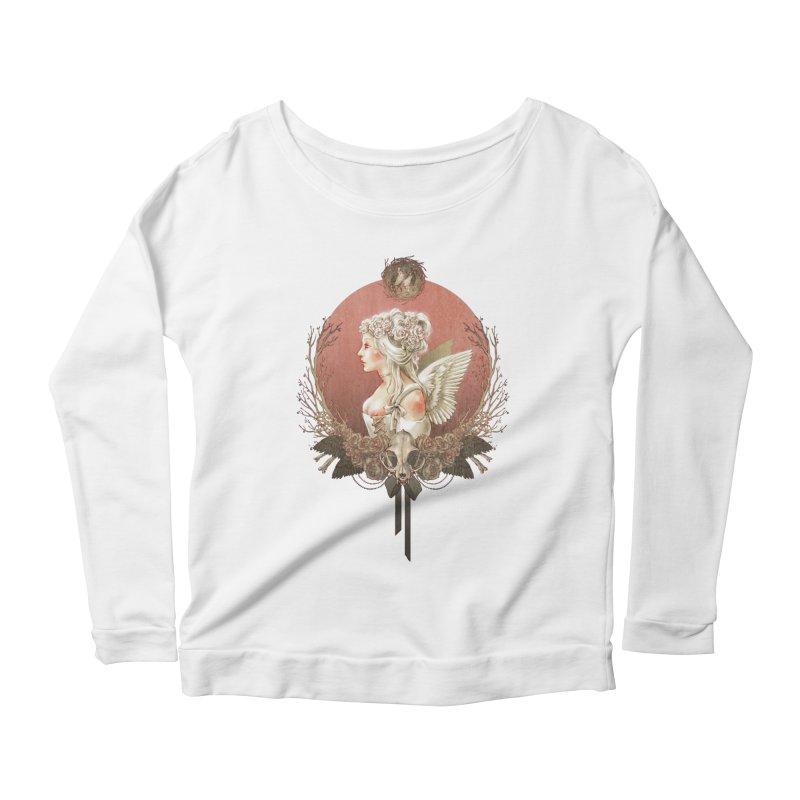 Bianca des Anges Women's Scoop Neck Longsleeve T-Shirt by Mar del Valle's Artist Shop
