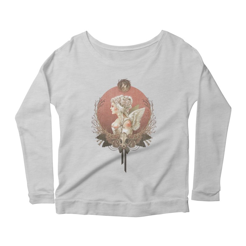 Bianca des Anges Women's Scoop Neck Longsleeve T-Shirt by Mar del Valle's Artist Shop