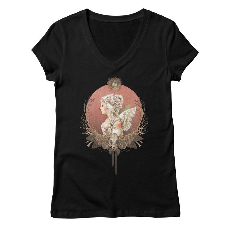 Bianca des Anges Women's Regular V-Neck by Mar del Valle's Artist Shop