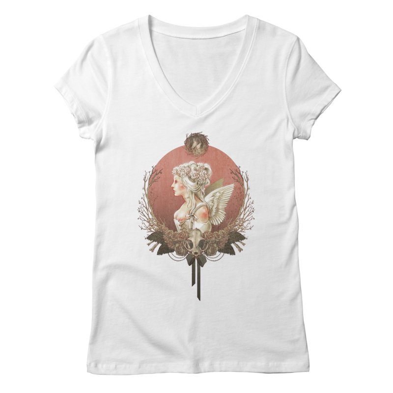 Bianca des Anges Women's Regular V-Neck by Mar del Valle's Artist Shop