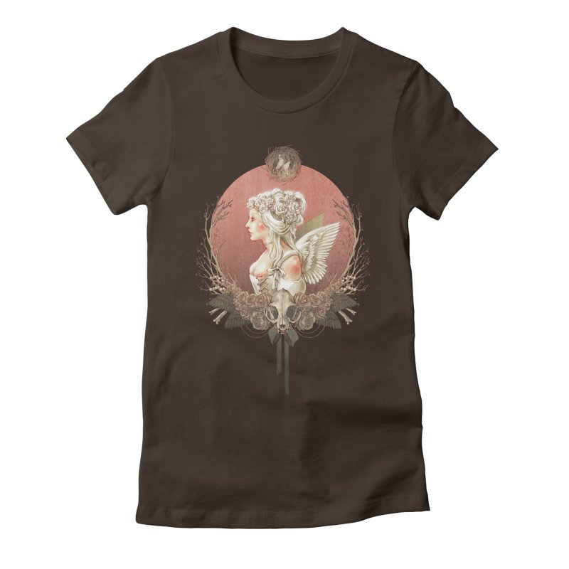 Bianca des Anges Women's Fitted T-Shirt by Mar del Valle's Artist Shop