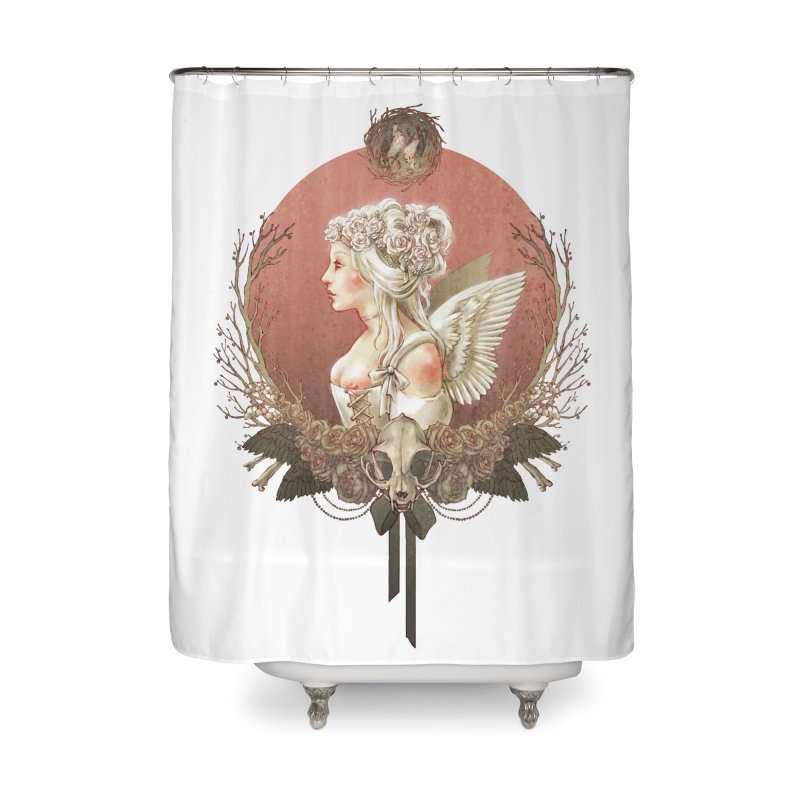 Bianca des Anges Home Shower Curtain by Mar del Valle's Artist Shop