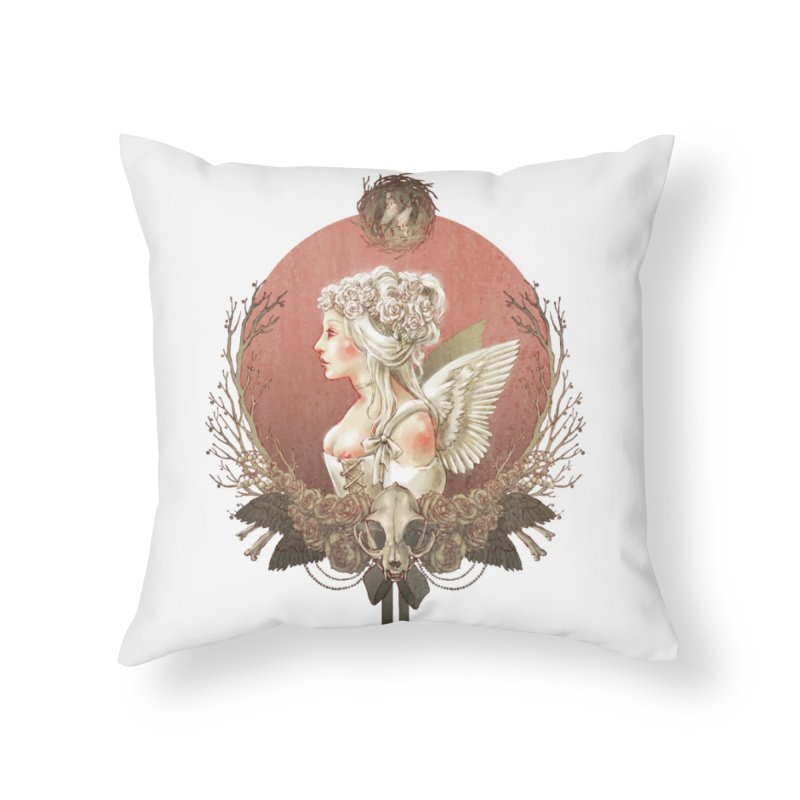Bianca des Anges Home Throw Pillow by Mar del Valle's Artist Shop