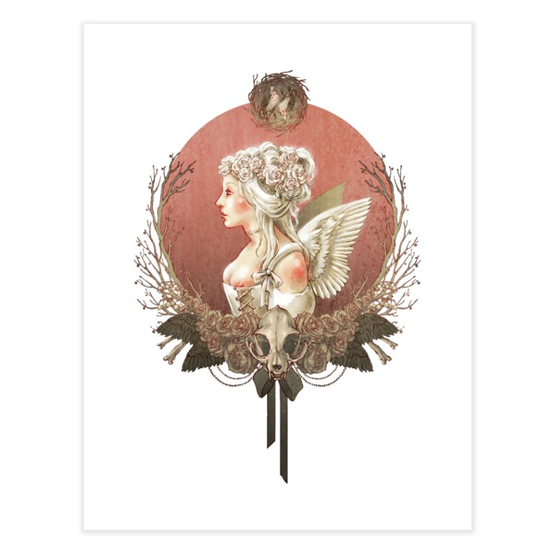 Bianca des Anges Home Fine Art Print by Mar del Valle's Artist Shop