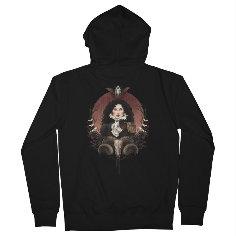 Imperatrice Women's Zip-Up Hoody by Mar del Valle's Artist Shop