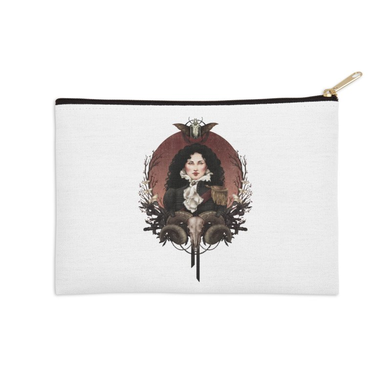 Imperatrice Accessories Zip Pouch by Mar del Valle's Artist Shop