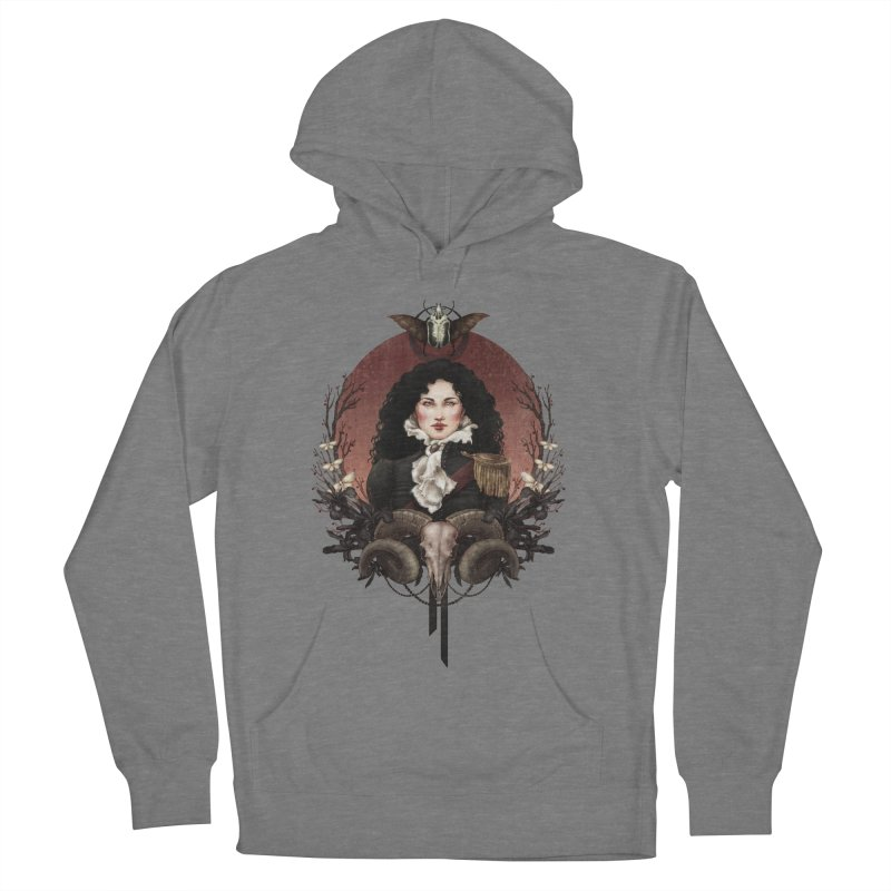 Imperatrice Women's French Terry Pullover Hoody by Mar del Valle's Artist Shop