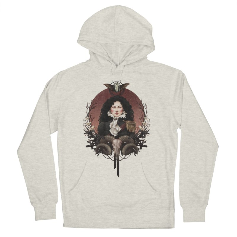 Imperatrice Men's French Terry Pullover Hoody by Mar del Valle's Artist Shop