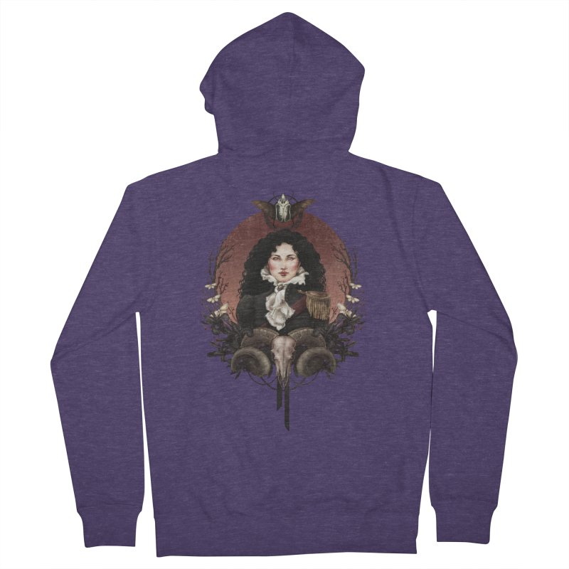 Imperatrice Men's French Terry Zip-Up Hoody by Mar del Valle's Artist Shop